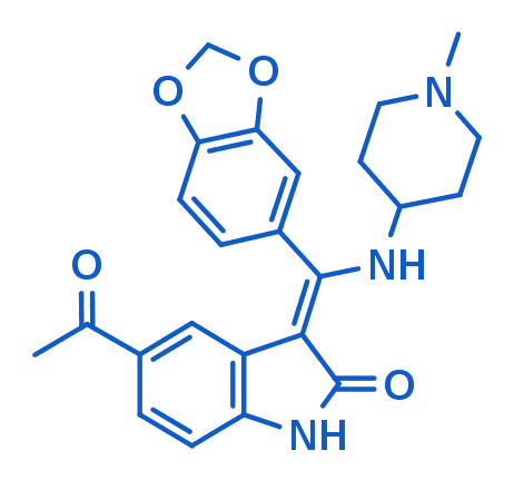 Figure 1: 2-D structure of BI-5521, a potent and selective GSK-3 inhibitor